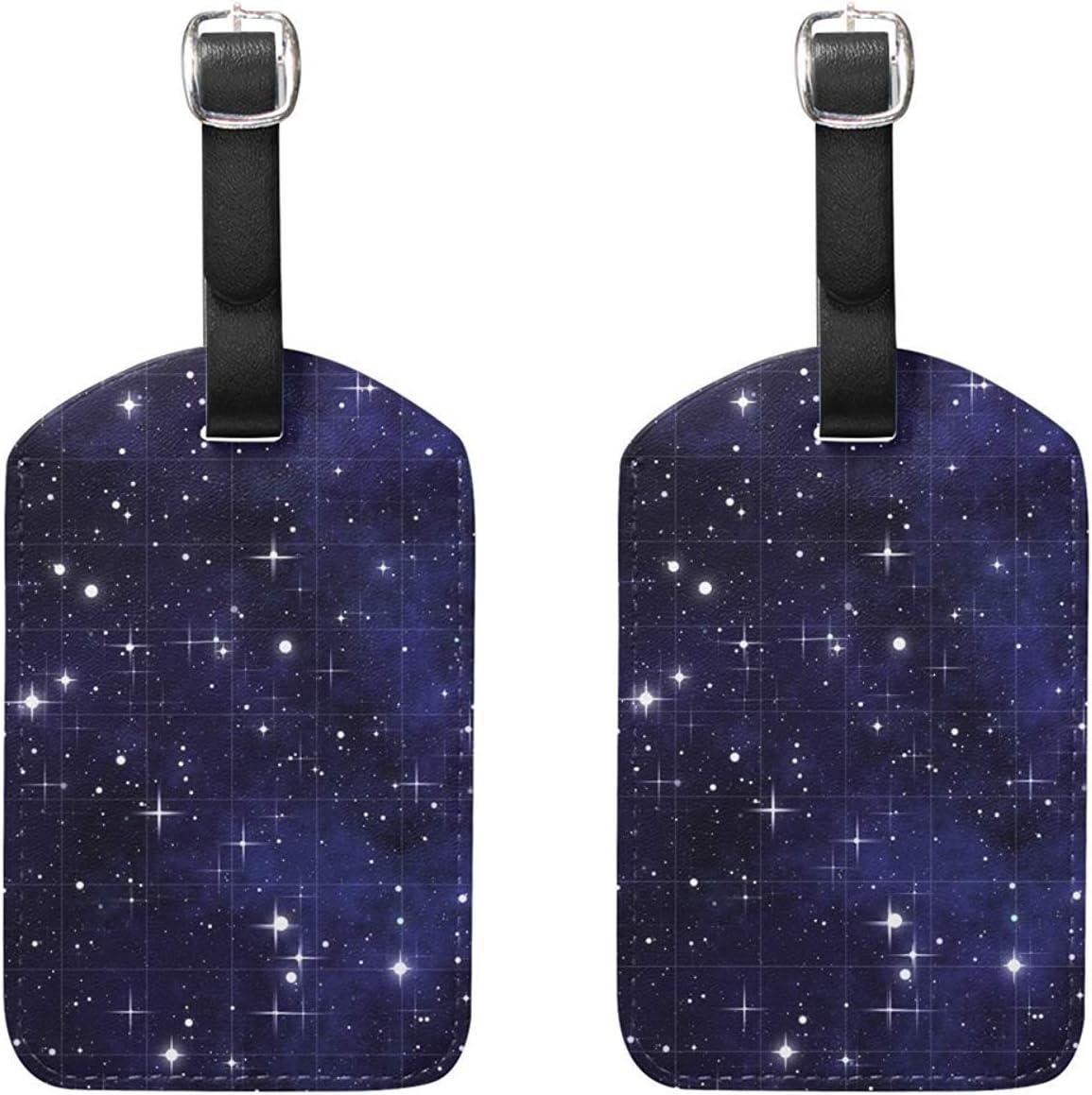 Set di 2 etichette per bagagli Etichette per valigie Galaxy Stars Accessori da viaggio