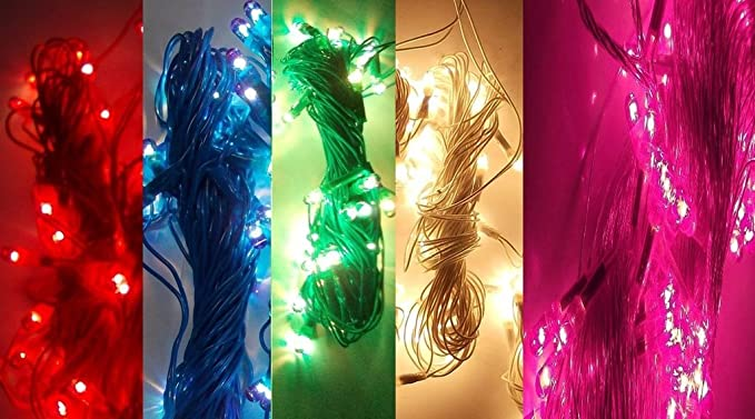 BENJOY Rice Lights Serial Bulbs (Multicolour) -Set of 5