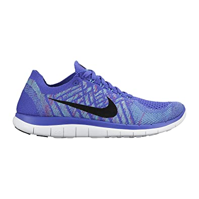 a0630eb486942 Nike WMNS FREE 4.0 FLYKNIT womens running-shoes 717076-501 10 - Persian  Violet   Hyper Jade-Fuchsia Flash-Black TRAINERS UK 7.5 EUR 42 US 10   Amazon.co.uk  ...