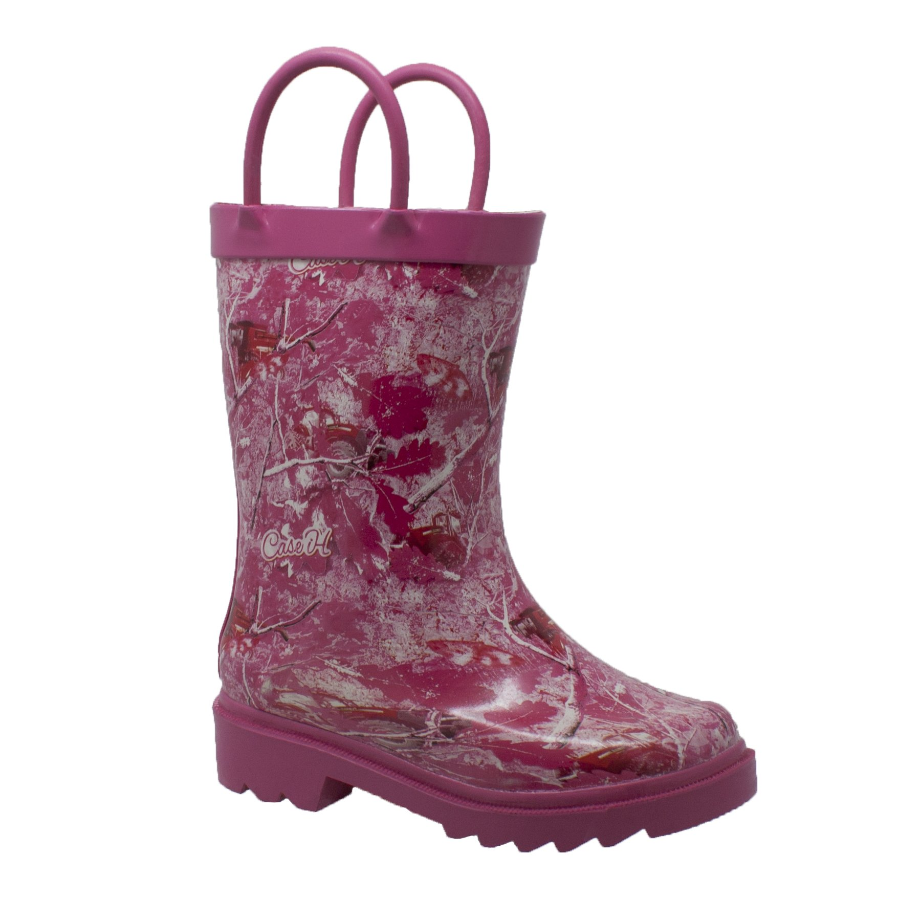 Case IH Camo Rubber Boot Girls' Toddler-Youth Boot 6 M US Toddler Pink