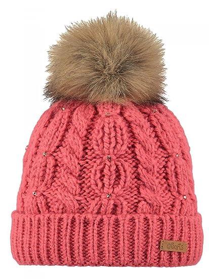 54fc4827d5a7 Barts-Bonnet à Pompon Maille torsadée Rose Corail Enfant Fille 3 au 10 Ans   Amazon.fr  Vêtements et accessoires