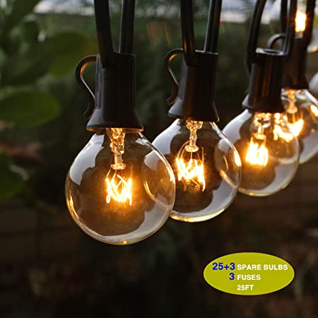 Outdoor string lights g40 outdoor string light bulbs listed waterproof string lights for indoor outdoor