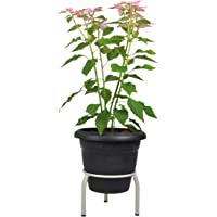 D&V Engineering-Iron Single Ring Pot/Matka/Plant Stand for Home Garden or Balcony