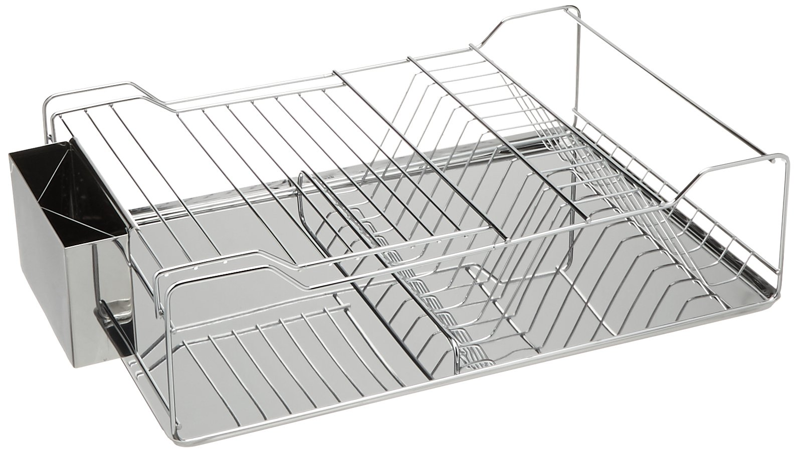 Just Manufacturing JSDD-1851275 Counter Top Stainless Steel Dish Rack with Tray by Just Manufacturing