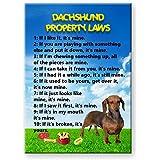 Dachshund Property Laws Fridge Magnet No 1