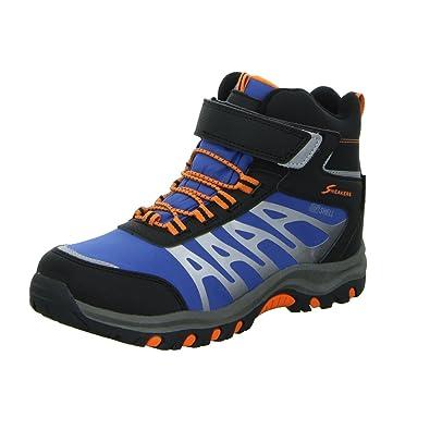 Sneakers Allwetterstiefel H1339J-2-BL Jungen Gefüttert Schwarz Blau Orange, Größe 35