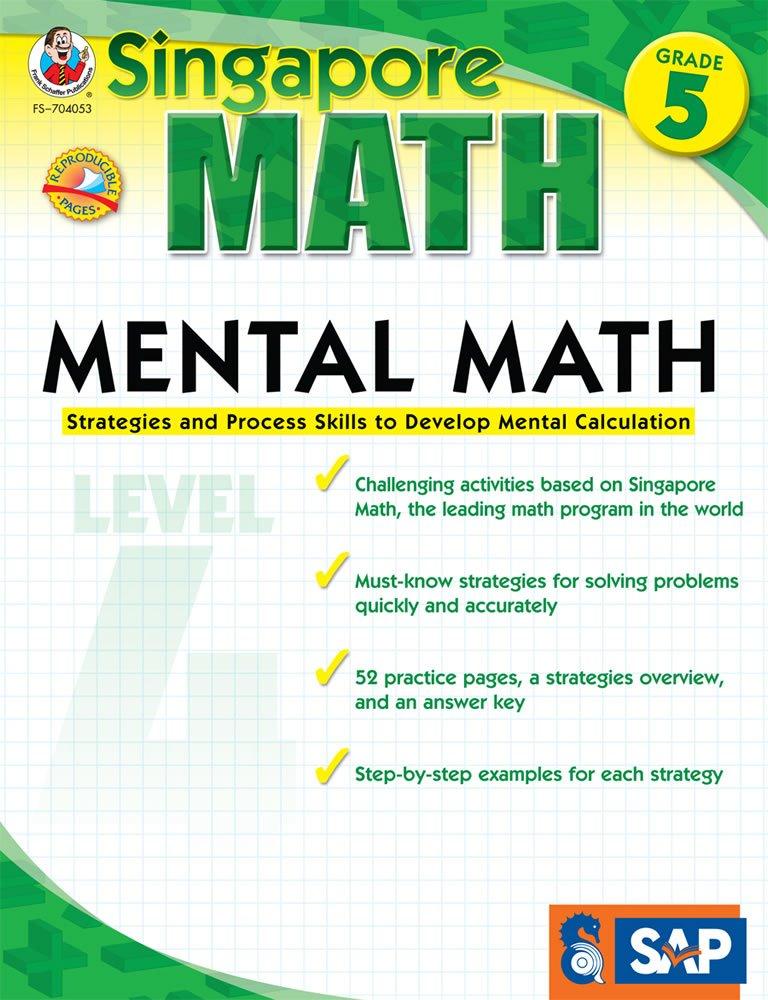 Mental Math Grade 5  Strategies And Process Skills To Develop Mental Calculation  Singapore Math