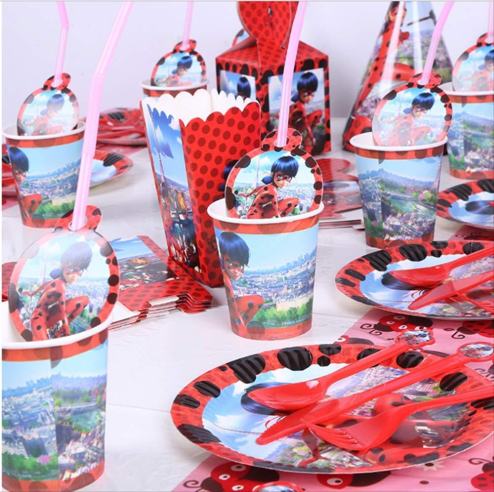 Ladybug Party Vajilla desechable Decoración de cumpleaños ...
