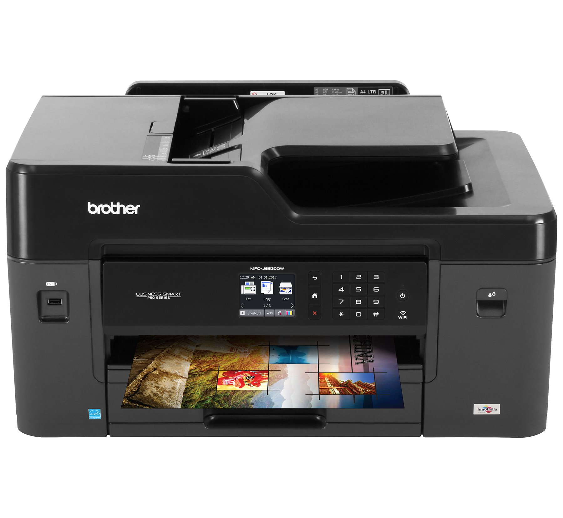 Brother Printer MFCJ6530DW Wireless Color Printer with Scanner, Copier & Fax, Amazon Dash Replenishment Enabled, Inkjet All-in-One