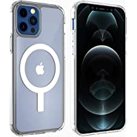 Proker for iPhone 12/12 Pro Clear Magnetic Case,Built in Magnets Compatible with Magsafe Charger/Wallet,Thin Anti…