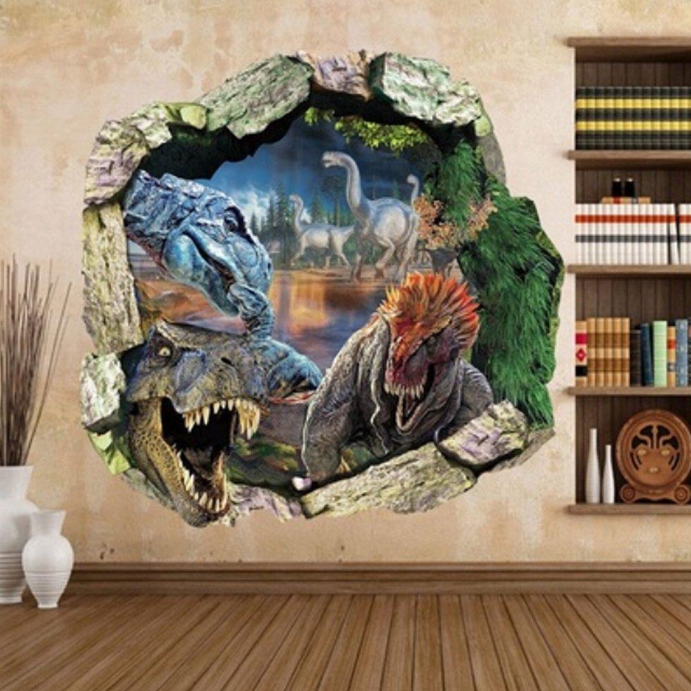 Amazon com clothingloves big jurassic park dinosaur vinyl decal 3d