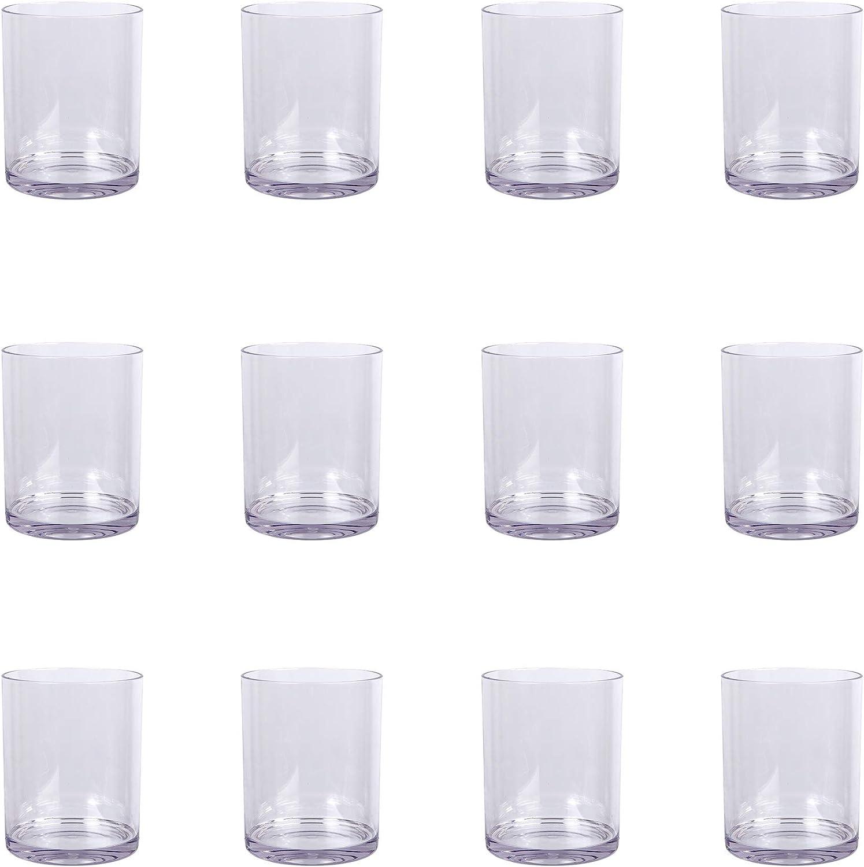 15.2 oz. Clear Plastic Stemless Wine