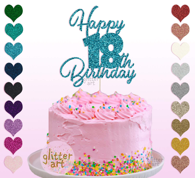 Brilliant Personalised Custom Happy 18Th Birthday Party Cake Topper Name Any Personalised Birthday Cards Veneteletsinfo