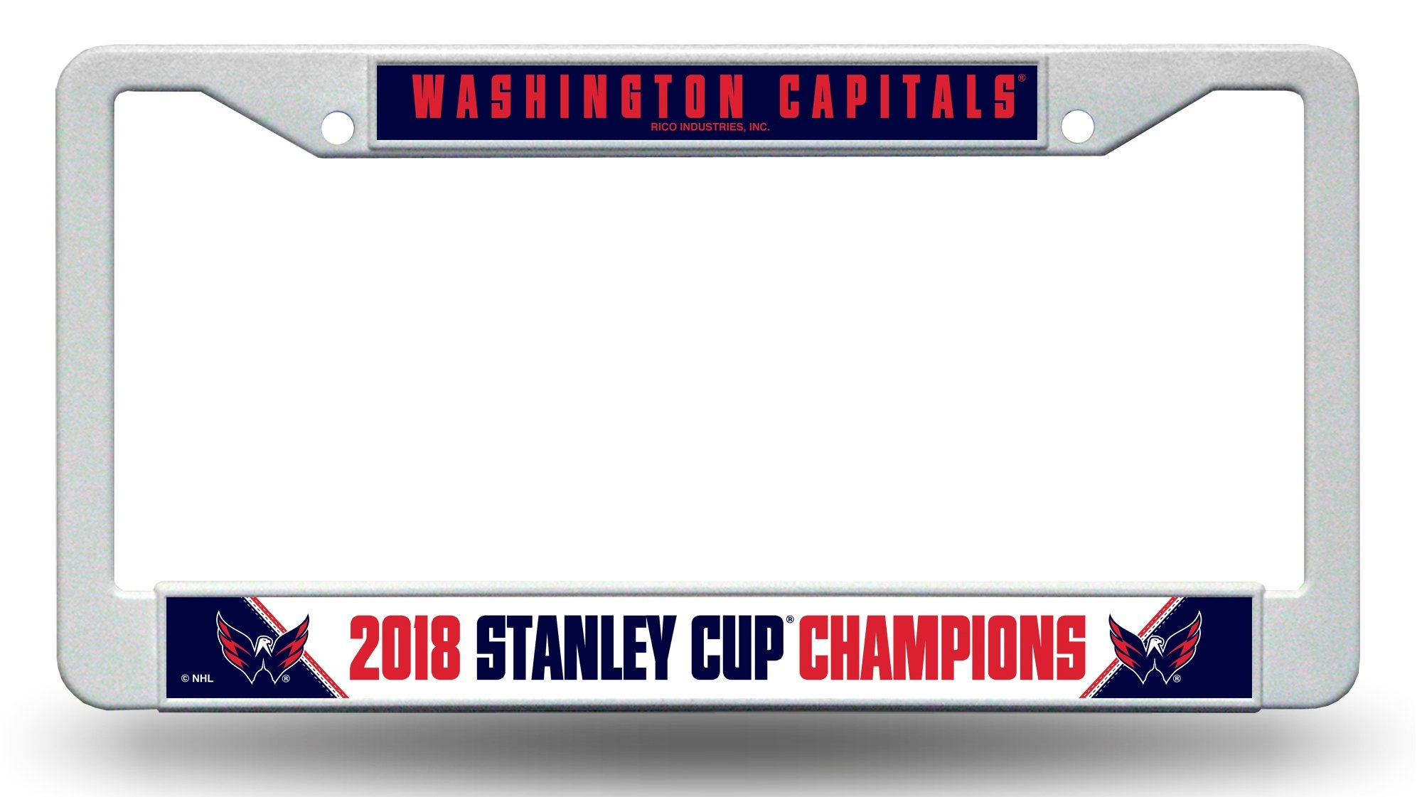 Rico Washington Capitals 2018 Stanley Cup Champions Midnight Blue Chrome License Plate Frame