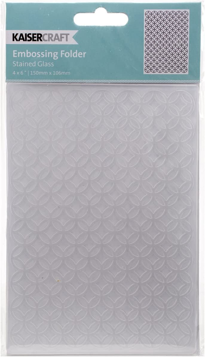 Kaisercraft Embossing Folder 4 by 6 Stained Glass
