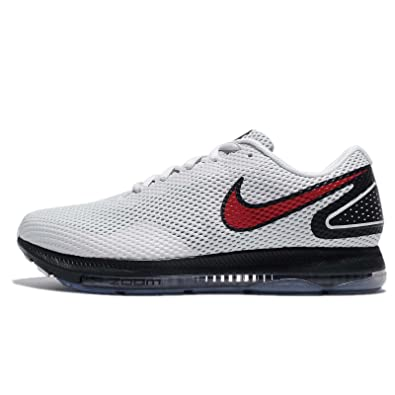 46152f4b53b10 ... usa nike mens zoom all out low 2 running shoe pure platinum university  red black 7.5