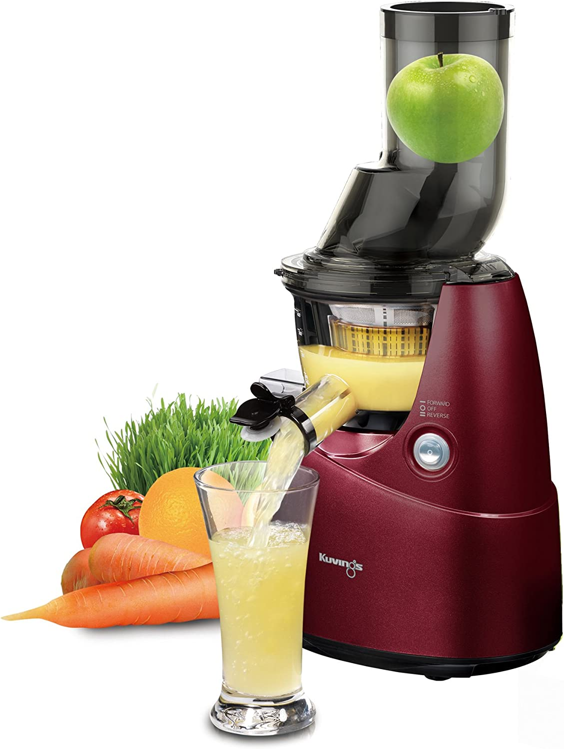 Kuvings BPA-Free Whole Slow Juicer Red B6000P