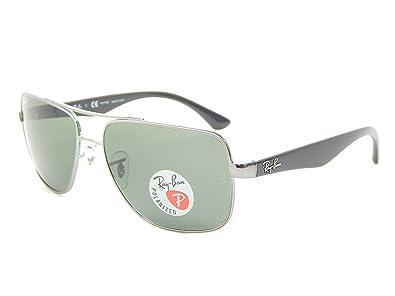 5f618a22003ba ... free shipping new ray ban rb3483 004 58 gunmetal crystal green polarized  60mm sunglasses 590a0 584d9 ...