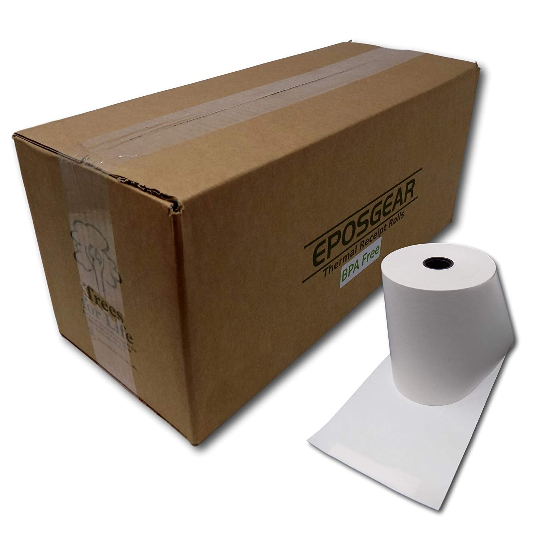 80mm x 60mm 80x60 Thermal Paper Till Cash Register Machine Receipt EPOS System Printer Rolls EPOSGEAR/® 100 Rolls BPA Free