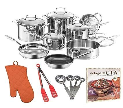 Cuisinart w99i-13 Juego de Classic Inducción batería de cocina + libro de recetas,