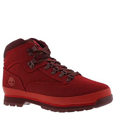 289d455595f Timberland Euro Hiker Mid Fabric Men's Boot 9.5 D(M) US Red: Buy ...