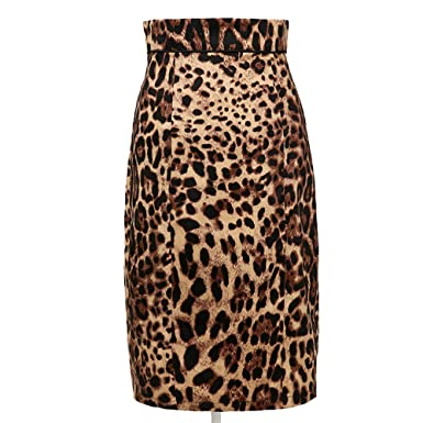 83383cf6c Candow Look Womens Leopard Print Pencil Skirt Vintage Style Pin Up Style  50s Mid-Calf