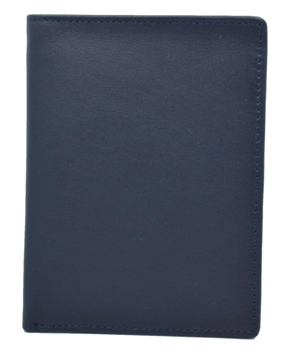 Royce Leather RFID Blocking Bifold Passport Currency Travel Wallet, Blue by Royce Leather