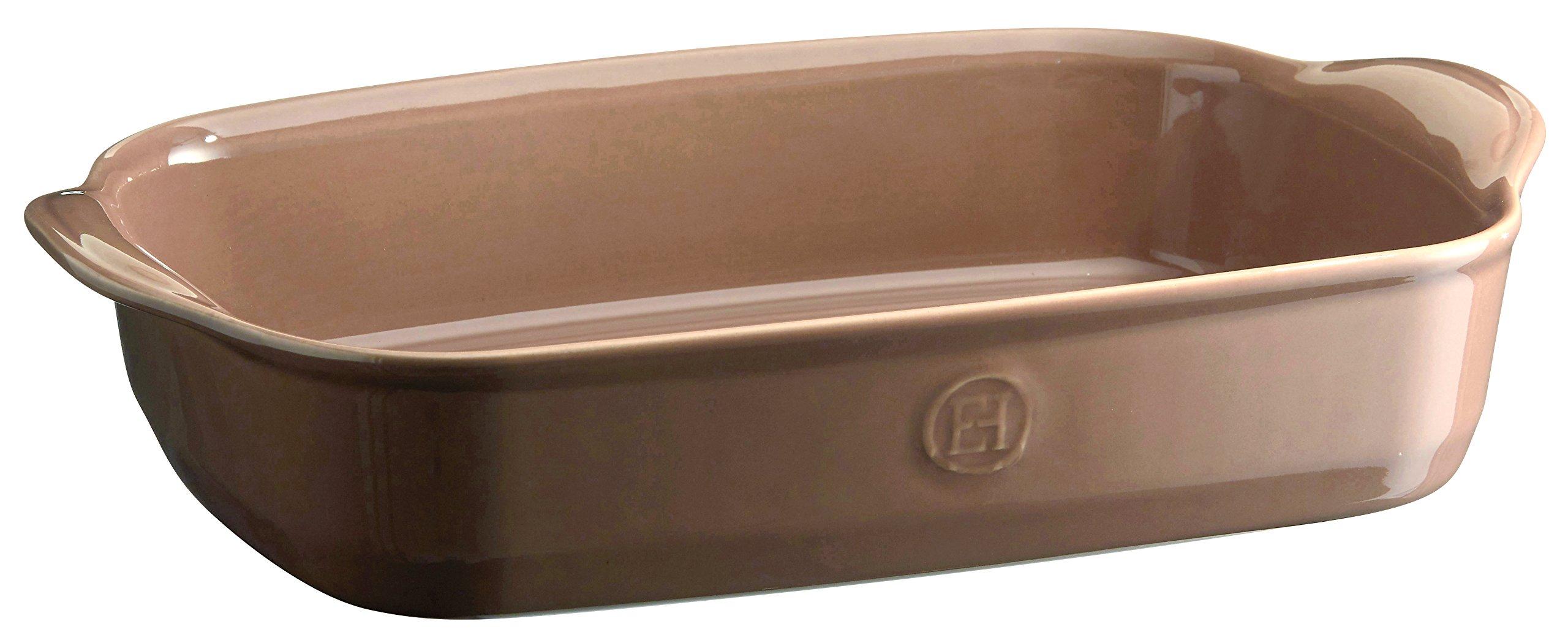 Emile Henry 969652 France Ovenware Ultime Rectangular Baking Dish, 14.2 x 9.1, Oak