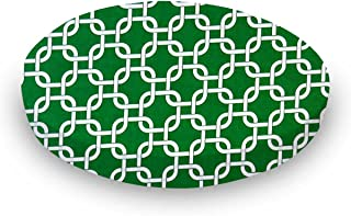 product image for SheetWorld Round Crib Sheets - Green Links - Made In USA