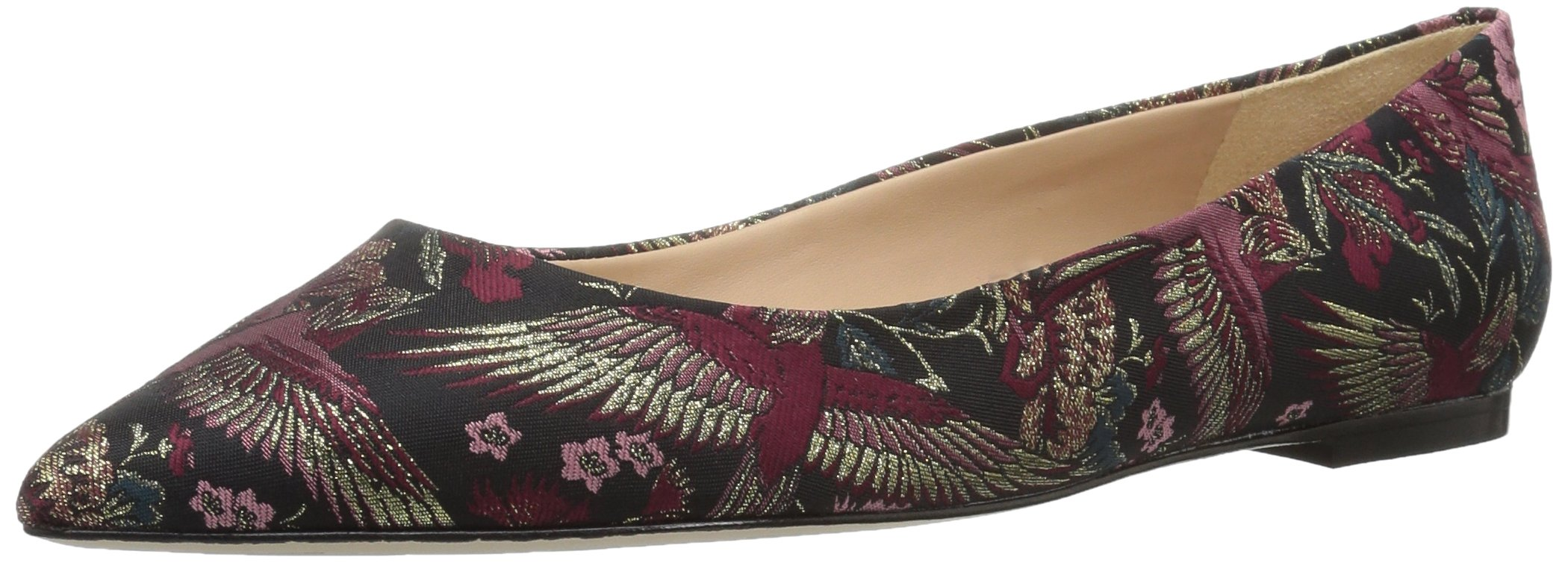 Sam Edelman Women's Rae Ballet Flat, Black/Multi Majestic Bird Jacquard, 7.5 Medium US