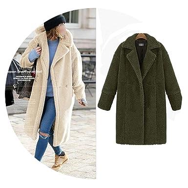 Faux Fur Coat Women Long Sleeve Ladies Streetwear Jacket Vintage Warm Fake  Fur Coat d48a0e0d075d