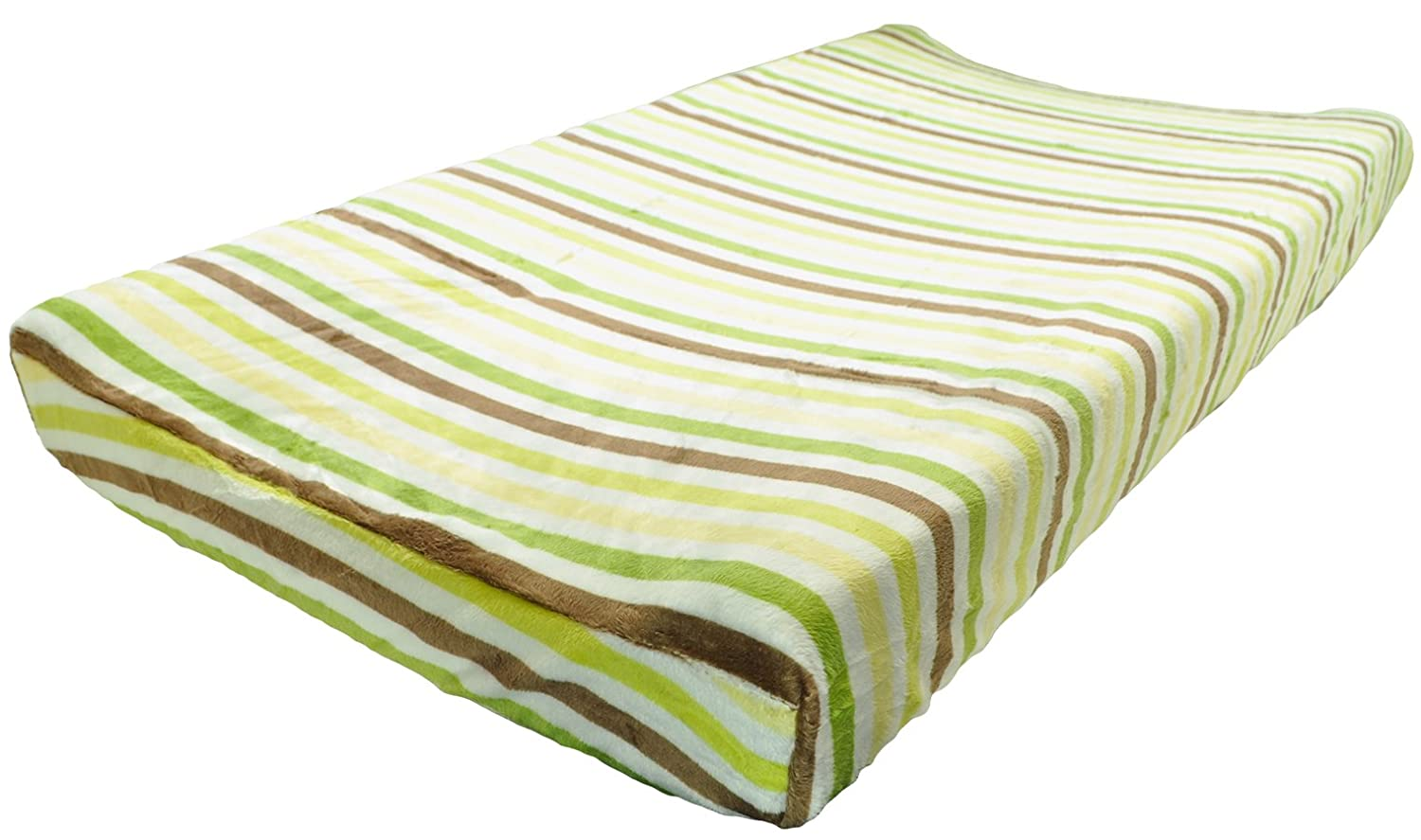 KidsLine Unisex Plush Baby Boy Changing Pad Cover Green Kids Line