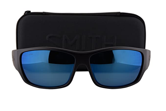 016e413c15 ... Smith Frontman Sunglasses Matte Black w Polarized ChromaPop Blue