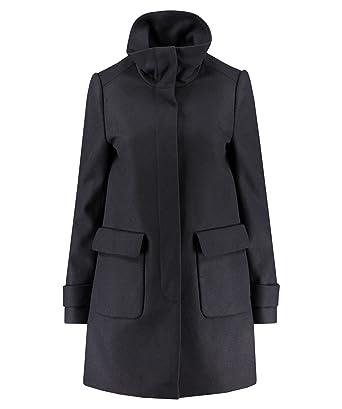 Manteau coton enduit femme