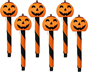 Charmed By Dragons Halloween Yard Decorations Solar Pathway Stake Lights (6, Jack-O-Lanterns)