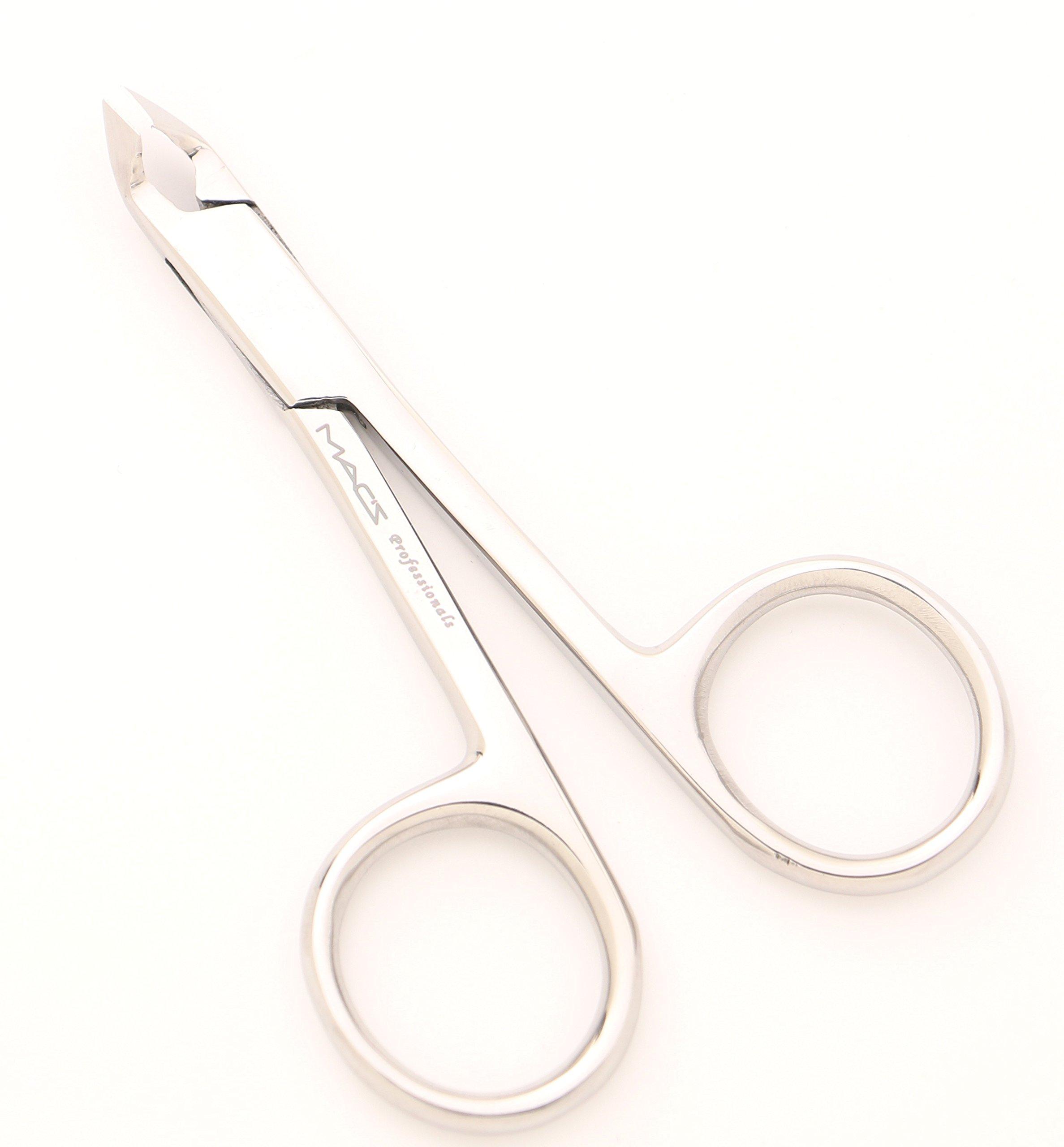 MACS CUTICLE NIPPER SCISSORS STYLE ,Cuticle Clipper, Nail Clipper,With Scissors Style,Mini Clipper/Nipper -Half Jaw Professional Quality, Stainless Steel -4-029
