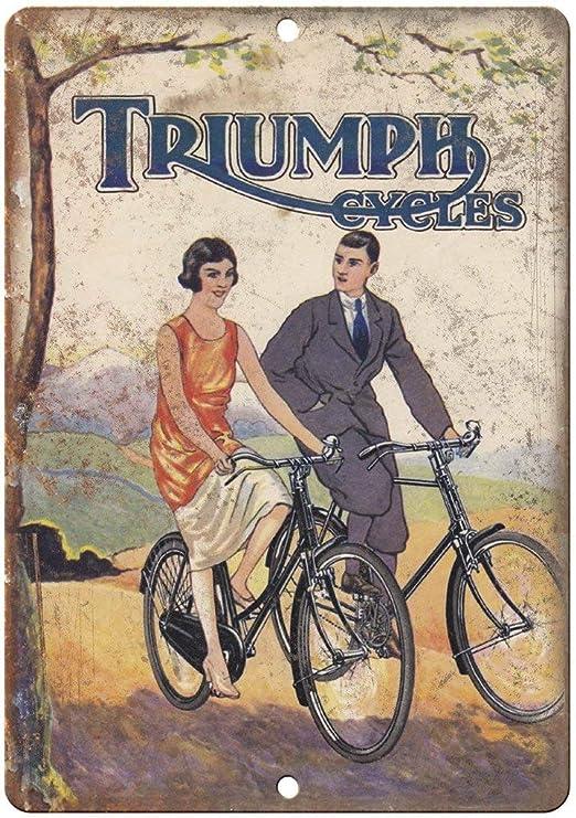 Killy Triumph Cycles - Placa de Metal con diseño Retro de ...