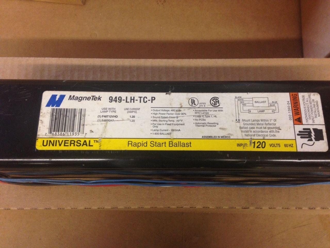 Universal Magnetek 949-Lh-Tc-P Rapid Start Ballast 120V For (1) F48T12VHO