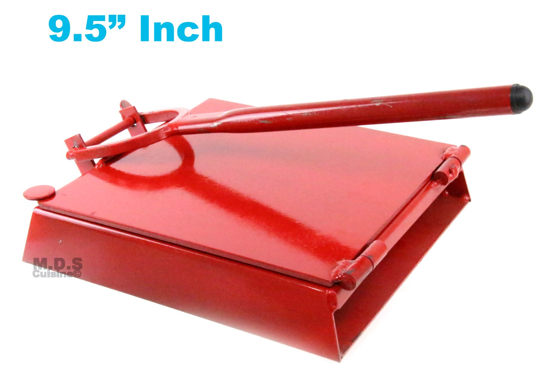 Tortilla Press 9.5'' Red Heavy Duty Iron Restaurant Commercial Authentic Mexican Tortillas by Ematik