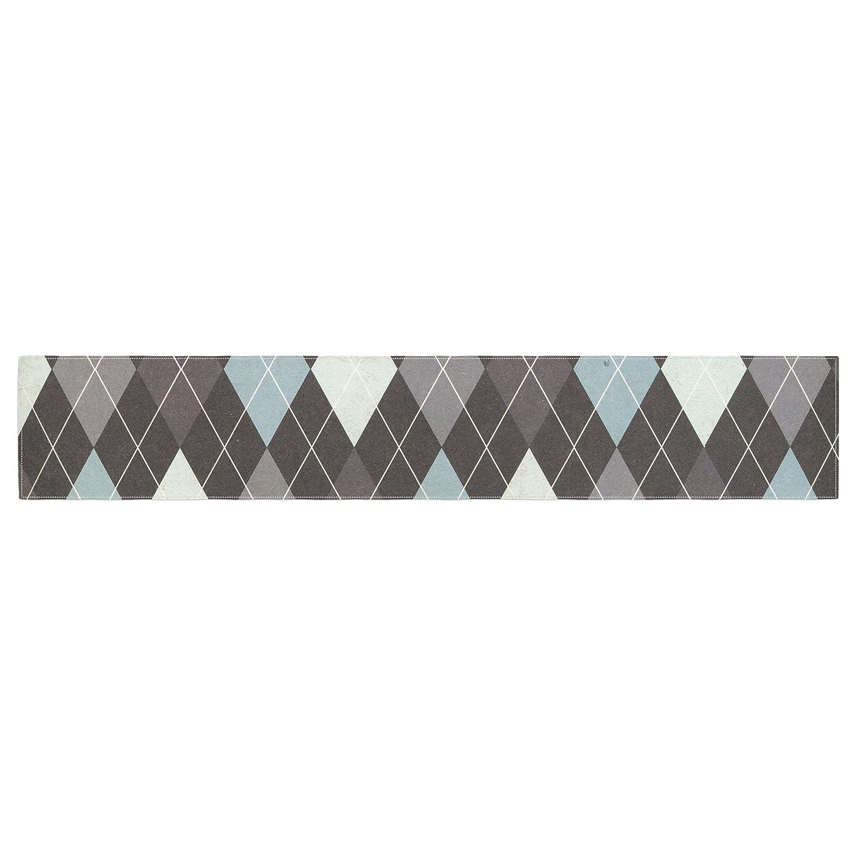 KESS InHouse Heidi Jennings Argyle Blue Gray Table Runner 16 x 180
