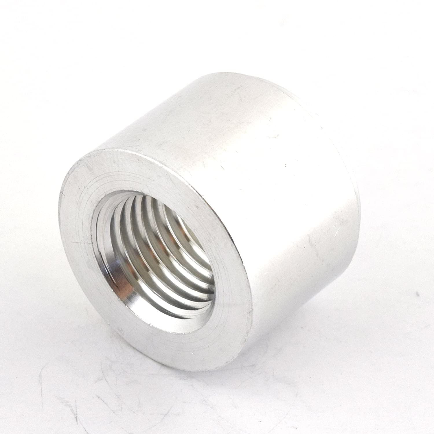 Kraken Automotive - Silver 1/4' NPT Straight Aluminum Weld-On Female Bung for Fuel, Oil, Coolant and Air