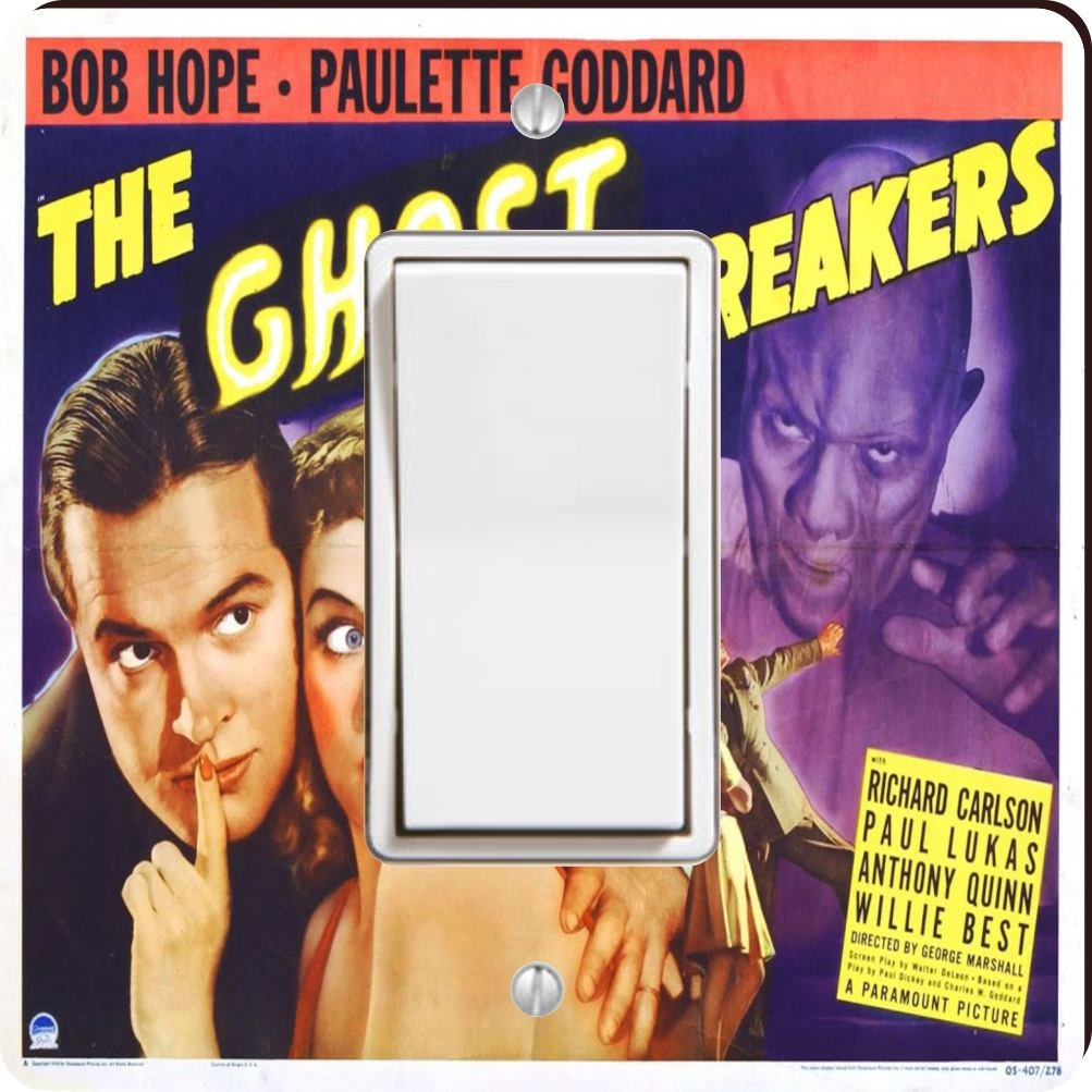 Rikki Knight 3710 Single Rocker Vintage Movie Posters Art Ghost Breakers 2 Design Light Switch Plate