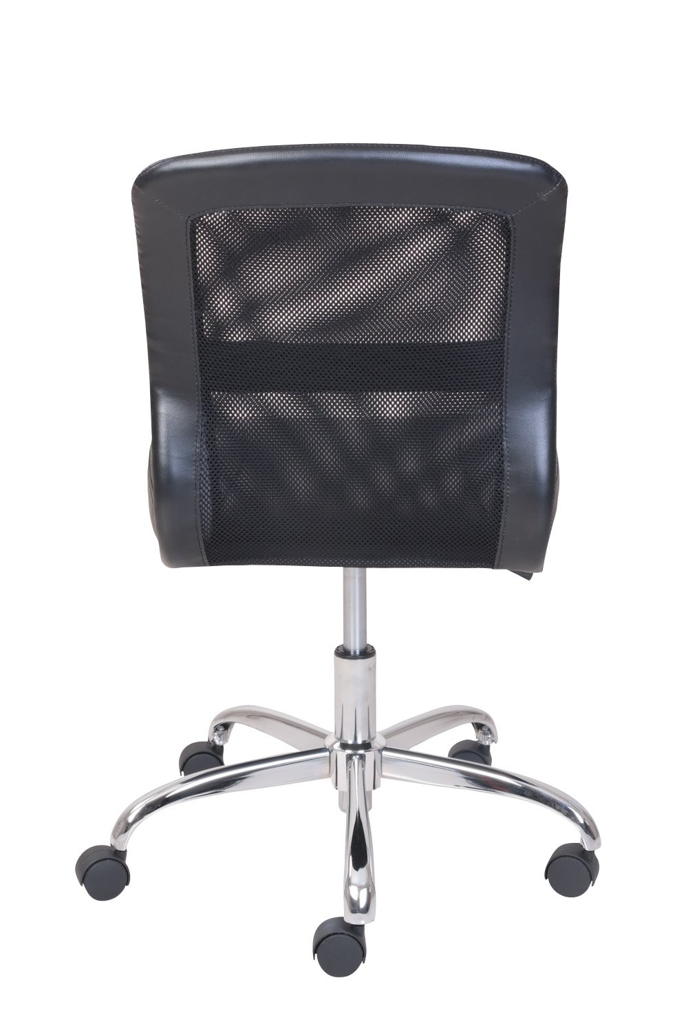 Comfortable Vinyl and Mesh Task Chair with Durable Metal Base, One-Touch Pneumatic Height Adjustment, Padded Seat and Back for Comfort + Expert Home Guide by Love US by LOVE US (Image #2)