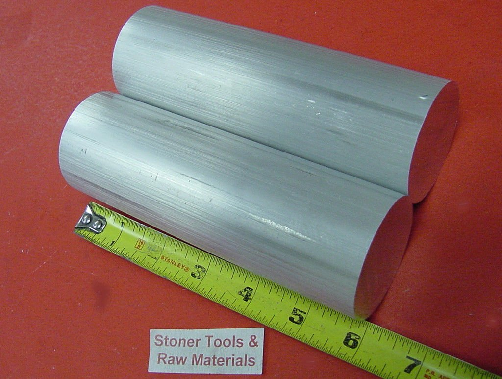 .07//-0 CUT NEW Lathe Bar Stock 2 Pieces 2 ALUMINUM 6061 SOLID ROUND ROD 6 long