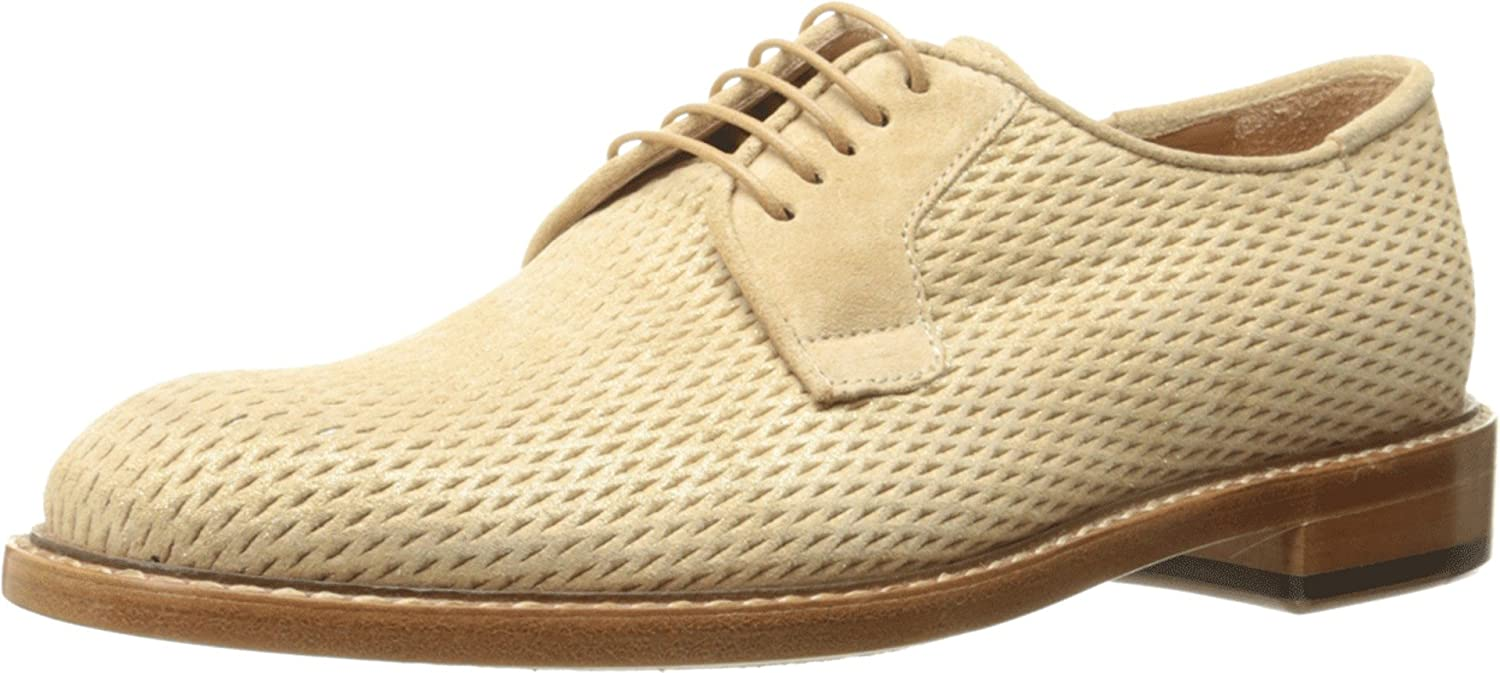 Paul Smith Womens Stokes Putty/Gold Perlato Suede Net