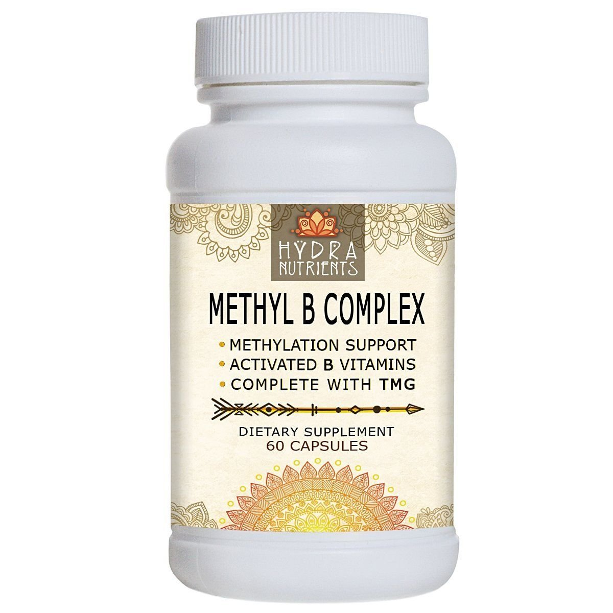 Hÿdra Nutrients Methyl Vitamin B Complex - Active B Vitamins - B12 Methylcobalamin -...