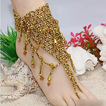 Amazoncom HuntGold 1X Indian style Beach Barefoot Sandals Adorn