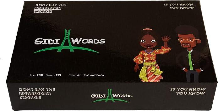 Gidi Words Nigerian African Card Game - Juego de Mesa con zumbador de 13 años en adelante: Amazon.es: Juguetes y juegos