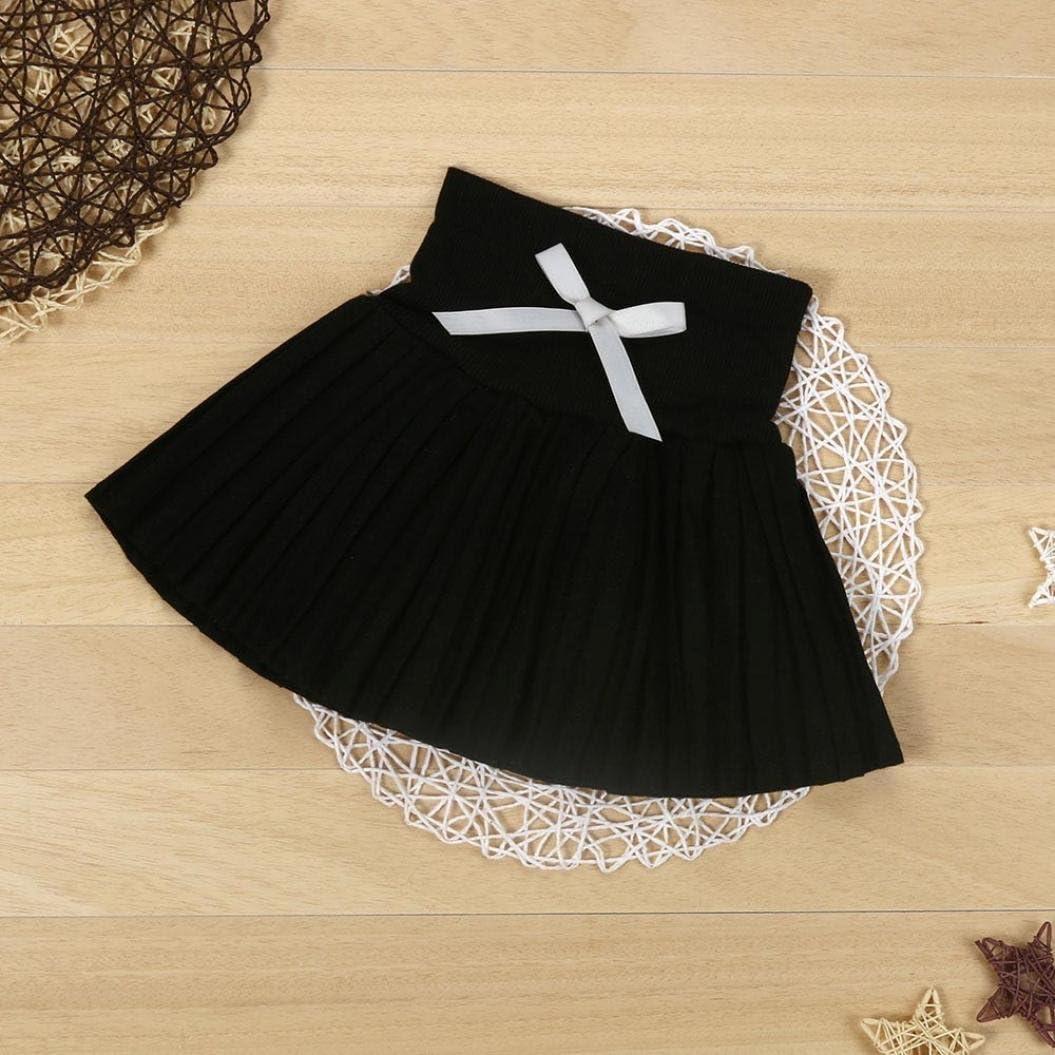 Kids Girls Princess Pleated Skirt College Wind Skirt High Waist Skirt Amiley Childrens clothing Dress