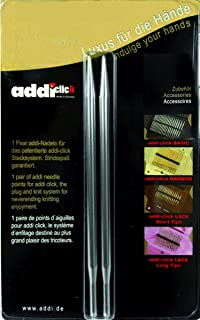 5.50mm 8cm Sz US 09 addi Click Lace Short Tip Replacement 3.25in.